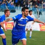 L'esultanza di Catania dopo il primo gol