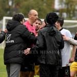 Le proteste all'arbitro Iacovacci dopo l'espulsione di Modica