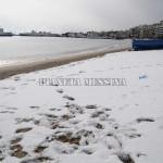 L'eccezionale nevicata in riva al mare