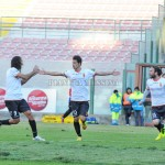 L'esultanza di Ferreira dopo il gol del raddoppio