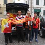 Quadretto familiare prima del match Tuttocuoio-Messina