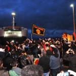 Esplode la festa allo sbarco del Messina in  città