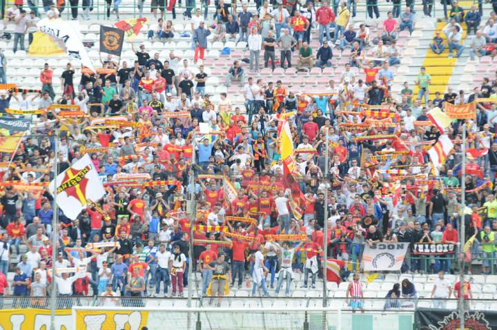 Messina-Lecce, la curva Sud
