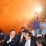 Lo Monaco tra i sostenitori giallorossi