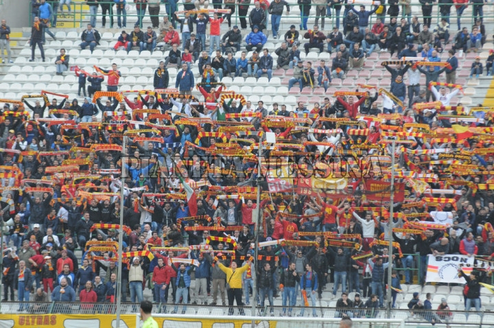 Messina-Catanzaro, sciarpata in Curva Sud