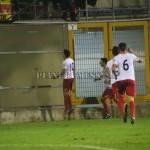 L'esultanza dopo il gol di Izzillo