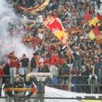 Uno scorcio della Sud contro il Catania