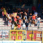 I supporter messinesi a Lecce