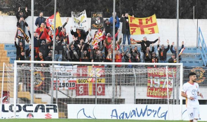 I tifosi del Messina anche a Matera