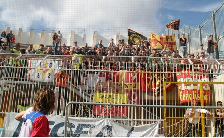 I tifosi mesinesi ad Agrigento