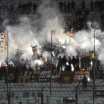 Messina-Akragas, luminarie in Curva Sud