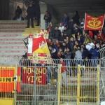 I supporter peloritani a Lecce