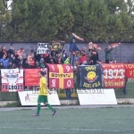 Supporter giallorossi a Palazzolo
