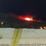 Tifosi sulla collinetta in Coppa Italiacntro l'Igea Virtus