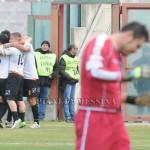 L'esultanza dopo la rete del Messina, Marruocco impreca