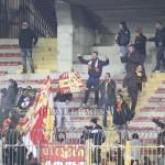"""I tifosi del Messina allo stadio """"Via del Mare"""" di Lecce"""