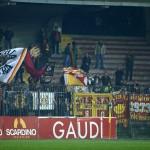 Un'altra immagine dei supporter peloritani a Lecce