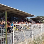 "Tribuna del ""Fagnani"" di Villafranca gremita di tifosi messinesi"