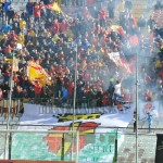 Messina-Matera, la Curva Sud in festa