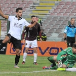 Il gol di Salvemini dopo il palo di Cocuzza