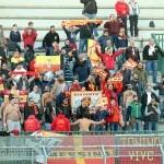 La curva occupata dai tifosi del Messina a Melfi