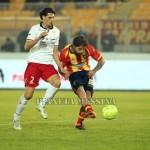 Il tiro gol di Surraco, Lecce in vantaggio
