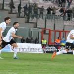 L'esultanza di Fornito dopo il gol