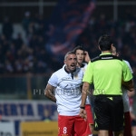 Giorgione protesta con l'arbitro