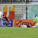 Il gol realizzato da Cristaldi. Akragas in vantaggio