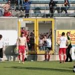 I calciatori salutano i tifosi del Messina