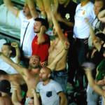 Esultanza dopo la vittoria in Coppa a Siena