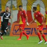 Esultanza di De Angelis dopo il gol su rigore