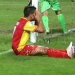 La disperazione di Ferri dopo il gol divorato