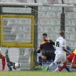 Il gol vittoria pugliese realizzato da Mazzeo