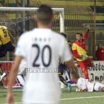 Il gol della vittoria stabiese con il bulgaro Atanasov
