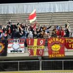 I supporter presenti a Taranto