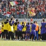 La Sud prima del derby di Coppa contro il Catania