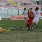 Il tiro gol di Anastasi, è il pareggio del Messina
