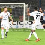 L'esultanza di Da Silva dopo il gol