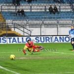 Il gol del 5-1 siglato da Sartore