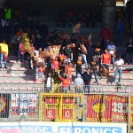 I supporter messinesi a Lecce