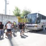 I tifosi messinesi appena giunti a Mugnano