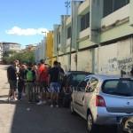 L'arrivo dei tifosi a Mugnano