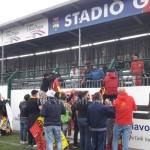 I primi tifosi giunti a Vallo della Lucania